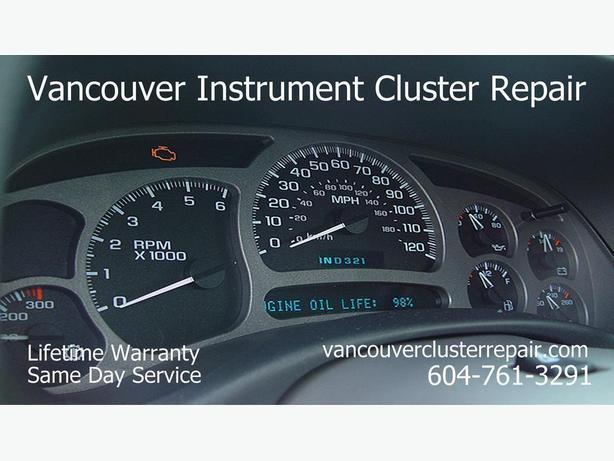 2001 chevy silverado cluster problem