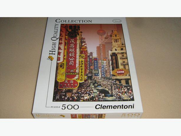 CLEMENTONI JIGSAW PUZZLE  -  500 PIECES  - SHANGHAI