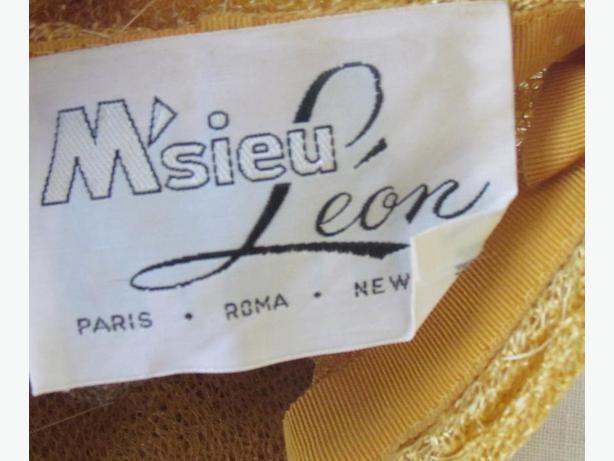 Vintage M'Sieu Leon Ladies Hat  - 1950's Costume