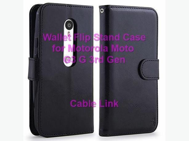 Flip Wallet Stand Leather Case for Motorola Moto G 3rd G3