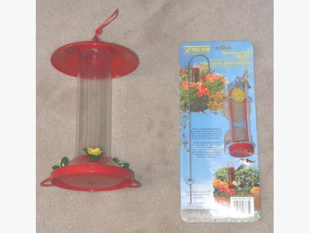 1 New and 1 VGC Plastic Humming Bird Feeders