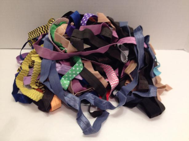 Assorted Colours and Lengths of Skinny Elastic
