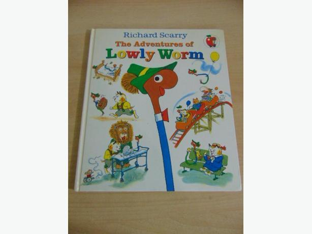 Richard Scarry The Adventures of Lowly Worm Vintage Book