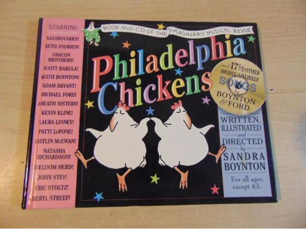 Sandra Boynton Philadelphia Chickens Large Hardcovered Book With CD