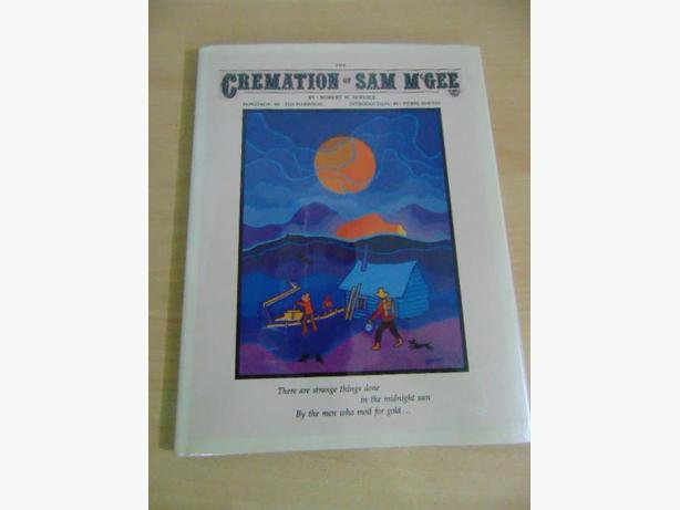 Ted Harris The Cremation of Sam McGee Book With Dust Jacket Art