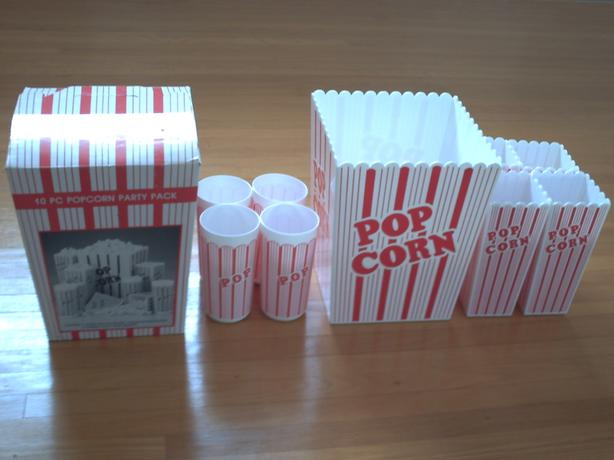 9 piece Popcorn Party Pack