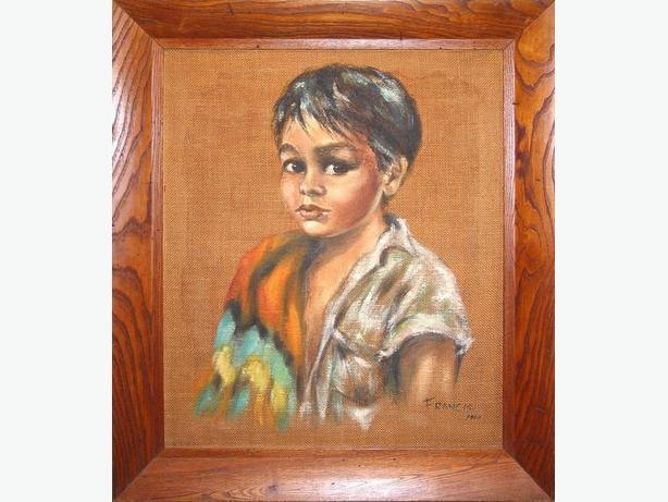 ORIGINAL DOROTHY FRANCIS - YOUNG FIRST NATIONS BOY -  1960