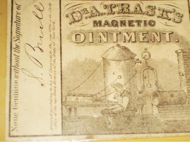 1846 DR. TRASK'S MAGNETIC OINTMENT LABEL