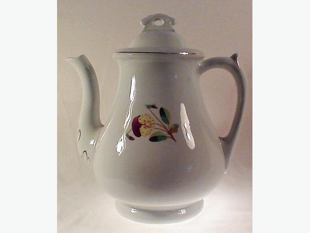 W&R Corn coffeepot ironstone