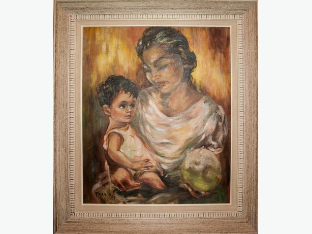 ORIGINAL DOROTHY FRANCIS - MOTHER AND CHILD - 1959