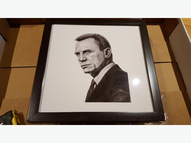 Daniel Craig Bond Picture in frame