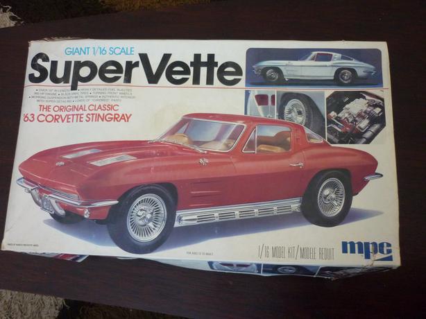 63' CORVETTE STINGRAY*NIB Vintage Model Kit*Unassembled*