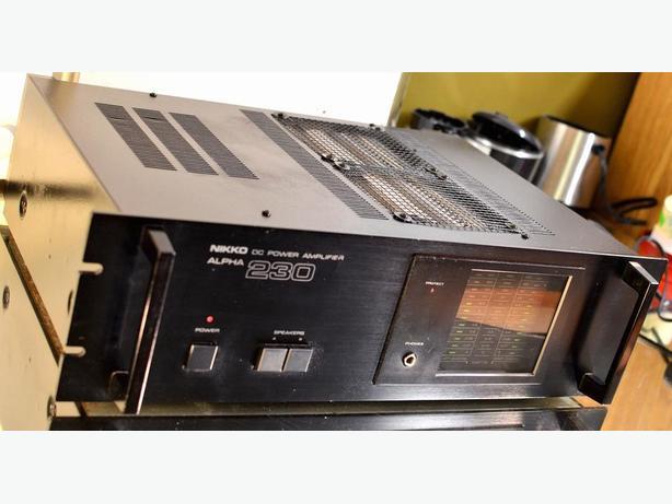 CLASSIC NIKKO ALPHA 230 POWER AMP AMPLIFIER LIKE NAD *PRO GRADE*
