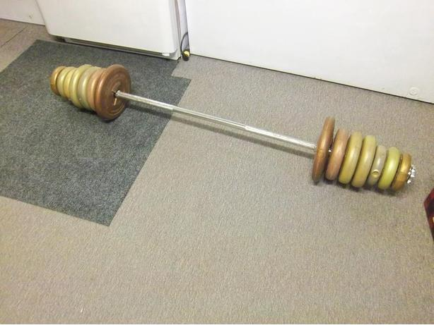 5' solid bar with weights  ))REDUCED((
