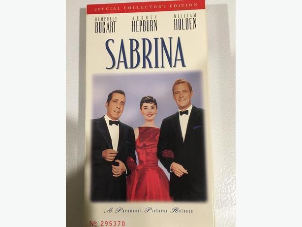 Sabrina VHS Tape with Audrey Hepburn, Humphrey Bogart and William Holden