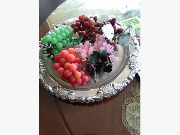 art crystals fruit e + plate
