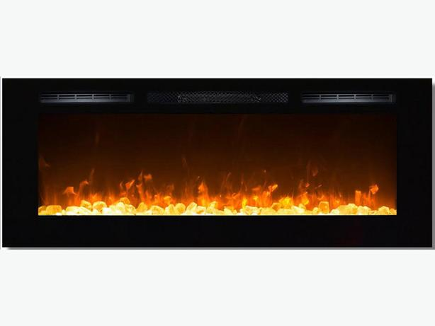 "BUILT IN ELECTRIC FIREPLACE 50"" 10 COLOR CHANGING LED"