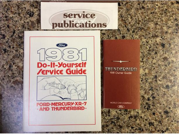 1981 Ford Thunderbird Owners manual & Service Guide