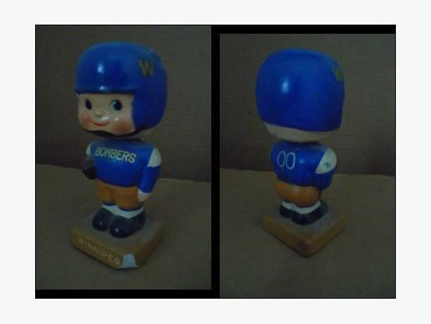 1960's Winnipeg Blue Bombers bobblehead nodder doll