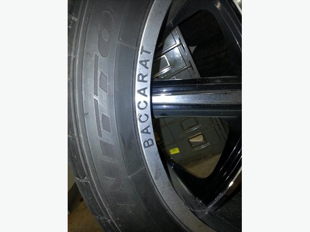 22 Baccarat Rims and Nitto tires…MINT!!!