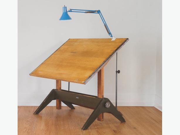 Antique Drafting Table Parts Hamilton