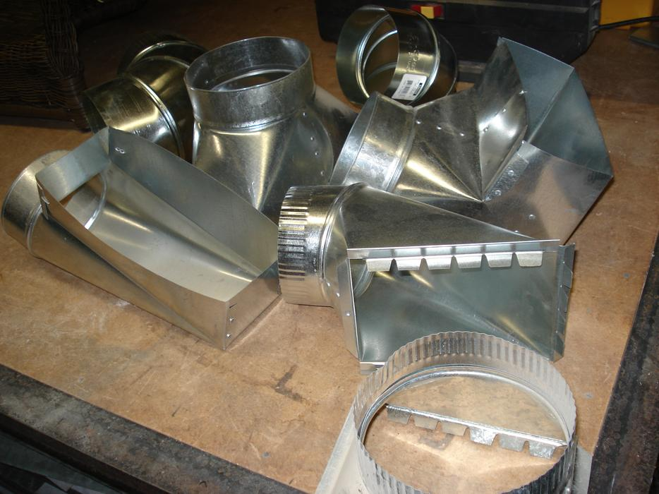 New sheet metal heating fittings registers grills