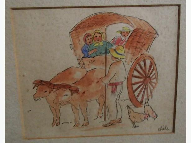 framed Chilean artwork