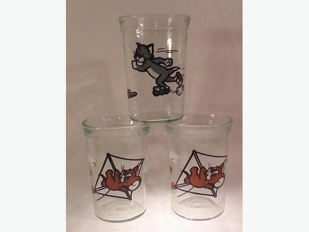 Welch's Tom & Jerry jelly glasses