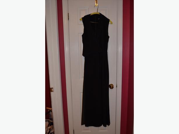 Ladies black palazzo jumper, Size 14