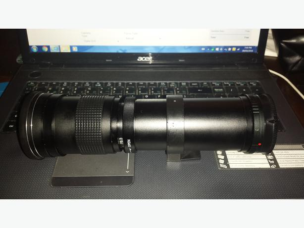 Opteka 420-800mm f/8.3 HD Telephoto Zoom Lens for Sony Alpha SLR ** REDUCED **