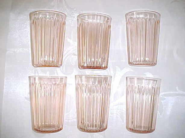 QUEEN MARY DEPRESSION GLASS TUMBLERS