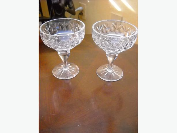 4U2C EDINBURGH SCOTLAND CRYSTAL ART DECO GLASSES