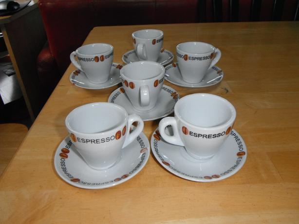 set of 6 Espresso Porcelaine Bella Cucina cups- N. Duncan