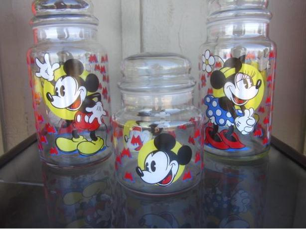 Three Disney Apothecary Canisters