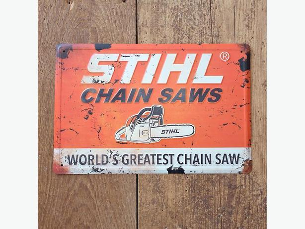 "STIHL RETRO 18"" x 12"" Sign"