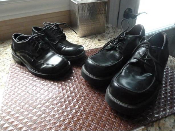 3 Pairs of Boy's Black Dress SHoes