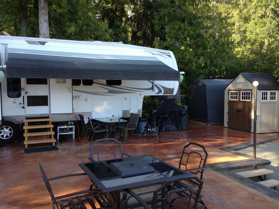 Water Front Rv Lot At Tall Timbers Holiday Park Sproat