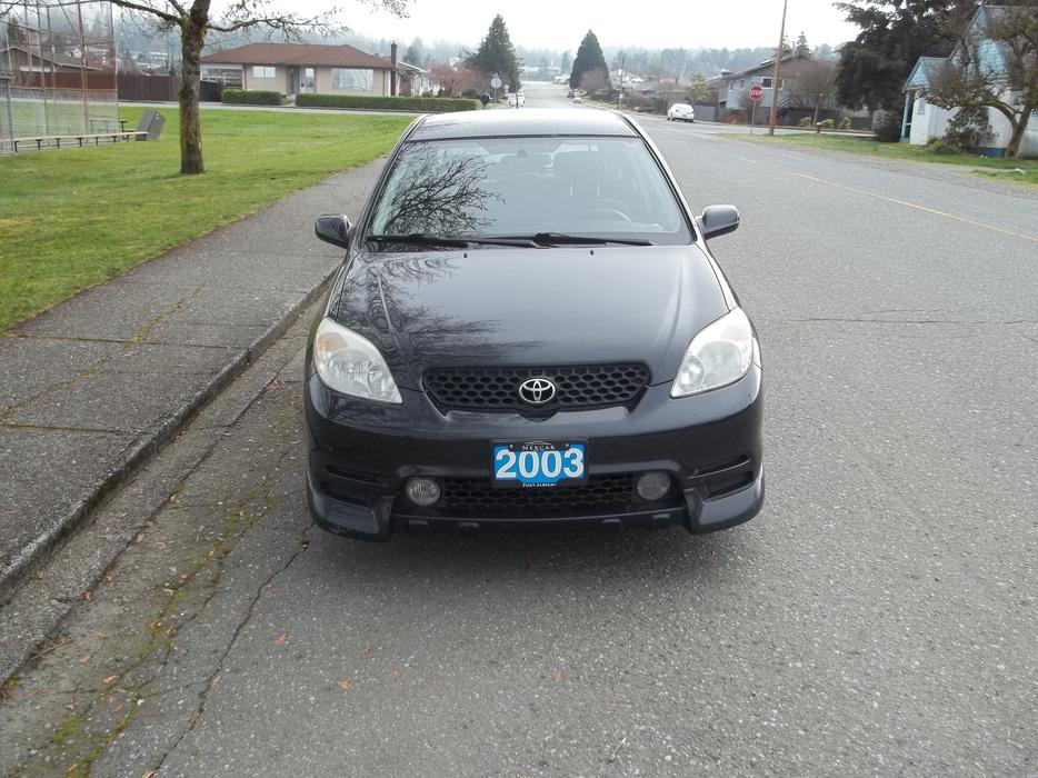 2003 toyota matrix xrs price reduction outside comox. Black Bedroom Furniture Sets. Home Design Ideas