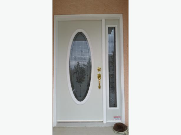 Front Door Oval Window Insert And Sidelight Set Ladysmith Cowichan
