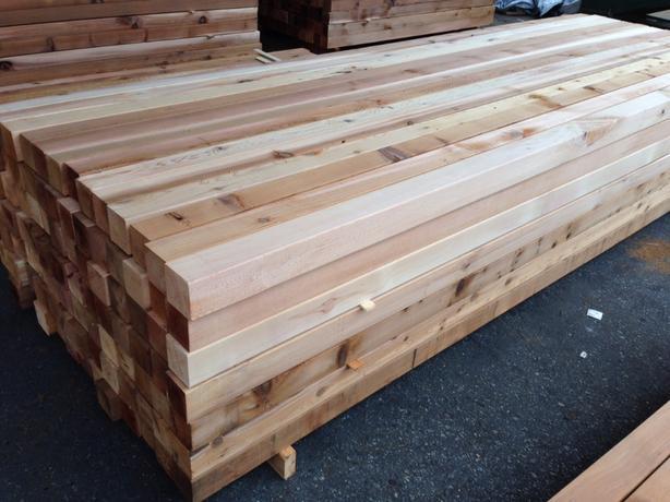 Western Red Cedar S4S 4x4s