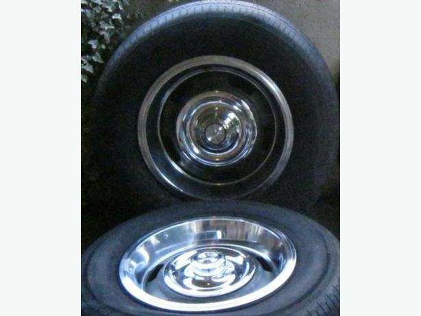 """RARE 14"""" Classic Chevy Rally Wheels - Complete Set of Four"""