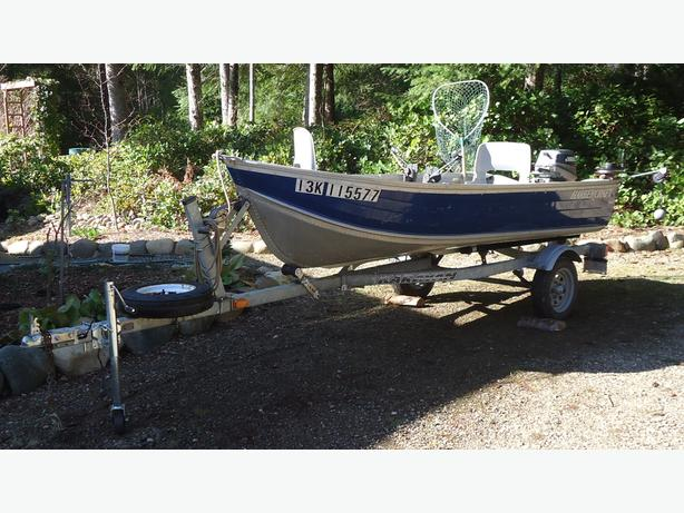 12 foot fishing boat motor trailer package merville for 12 foot fishing boat