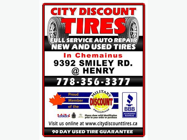 """4-225/75R16"""" 10 ply Tires"""