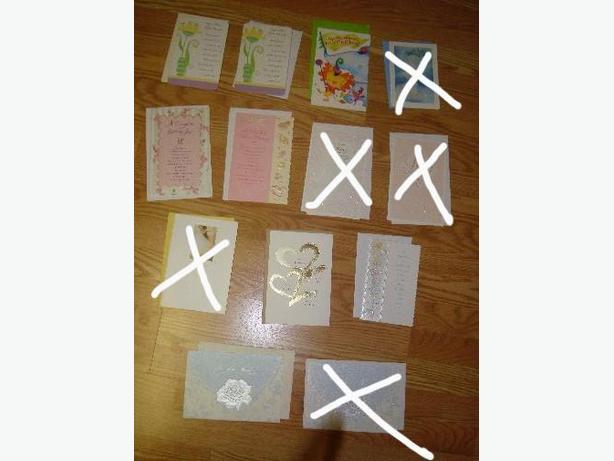 8 New Greeting Cards Assorted Baby/Wedding Shower Wedding Baptism $1 each