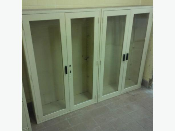Storage Cabinets (all metal) with glass doors