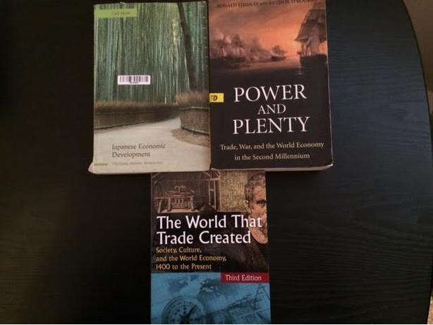 Textbooks for Carl Mosk's Econ 306