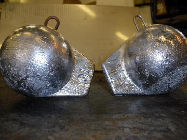 new 10 and 12 LB cannonballs with fins for sale