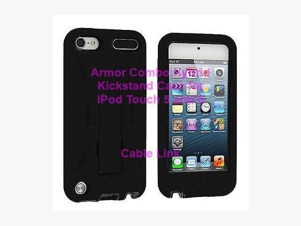 Armor Combo Hybrid Kickstand Case for IPod Touch 5 and IPod 6