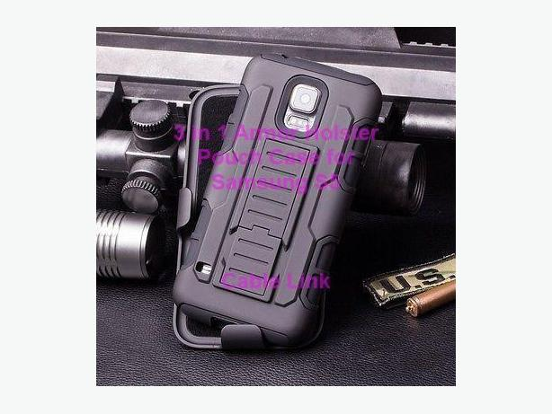 Premium 3 in 1 Armor Hybrid Stand Holster Case for Samsung S5