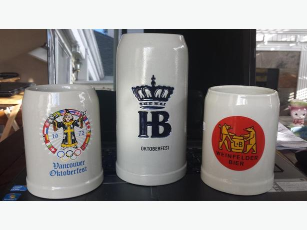 Nice set of Vintage beer steins